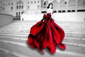 Grace Ciao: Gerçek Çiçeklerle Harika Moda Çizimleri