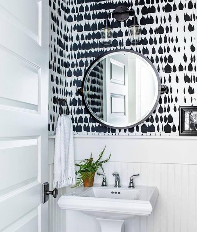 Banyo için duvar kağıdı