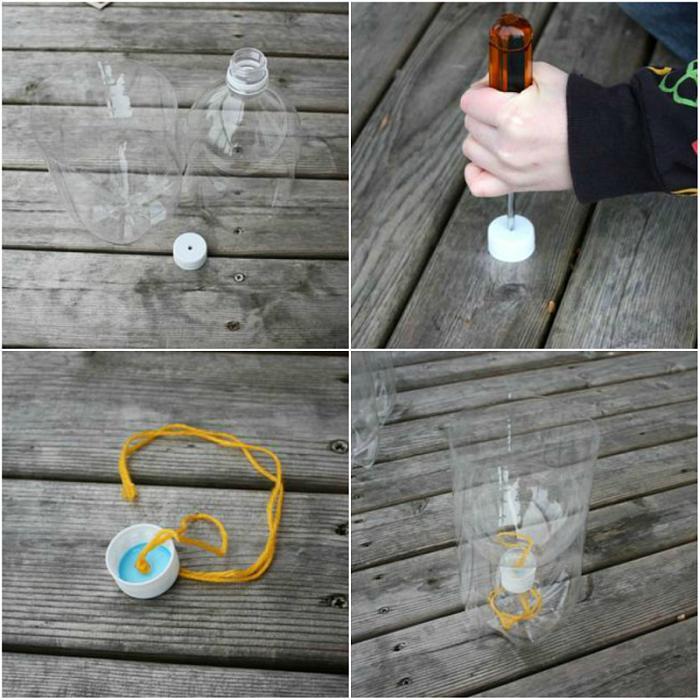 plastik şişeden saksı