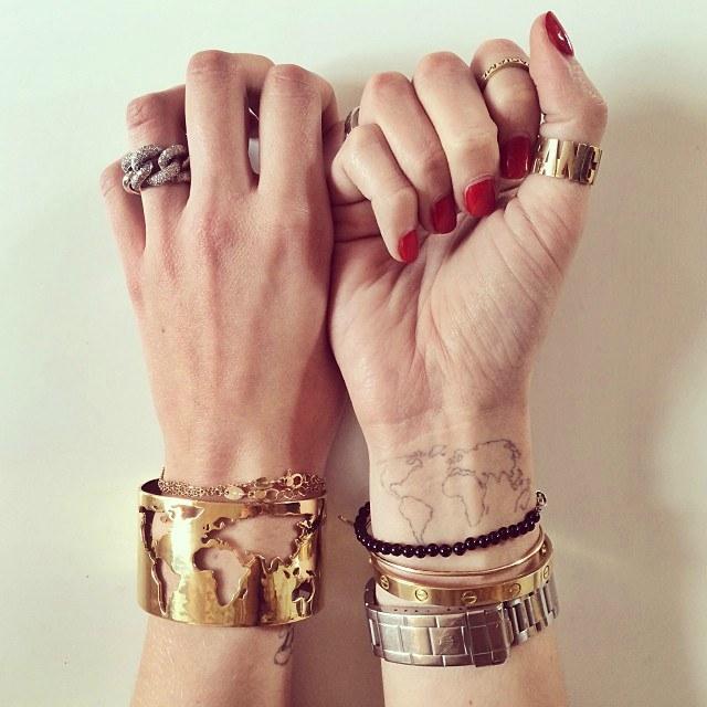 kadınlar için zarif el dövmeleri Chiara Ferraghi