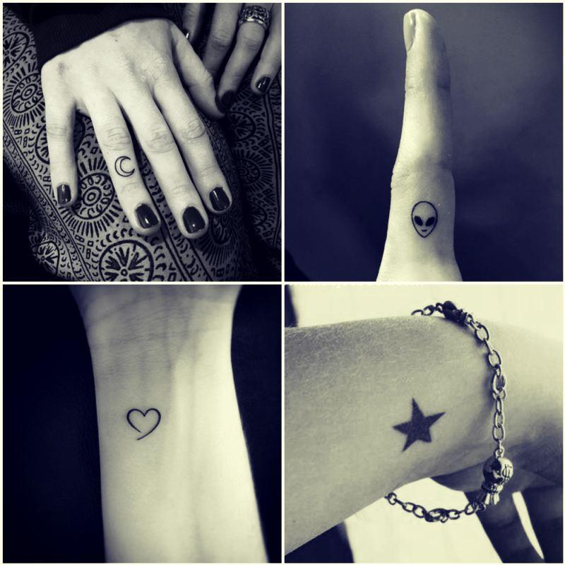 el dövmeleri ay yıldız kalp