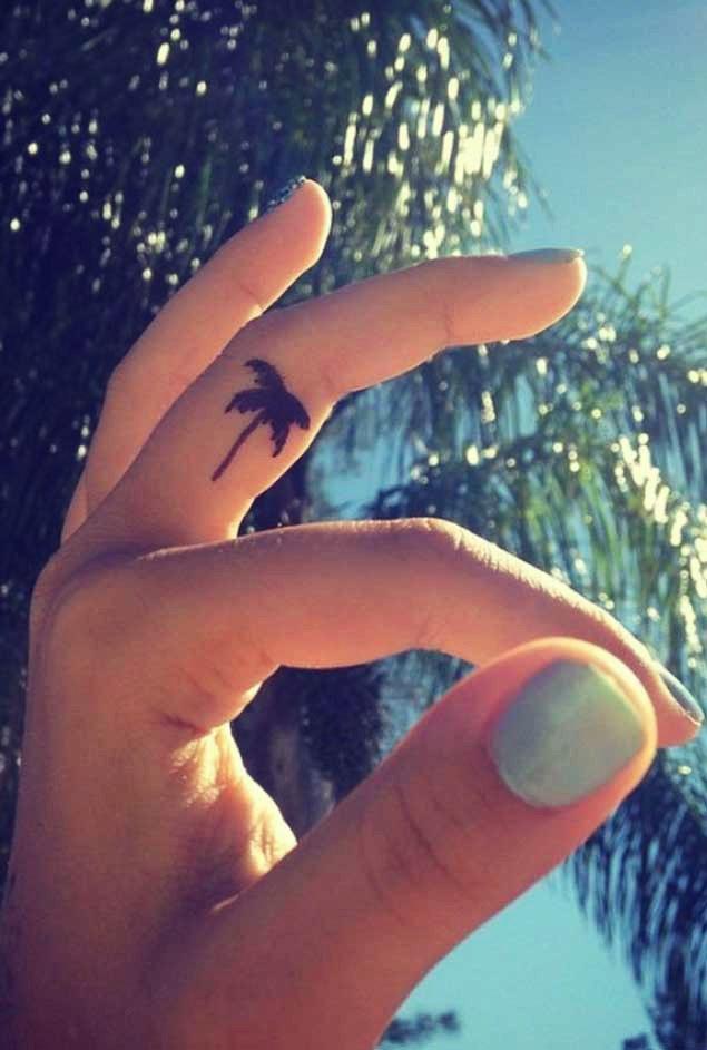el dövmeleri palmiye ağacı