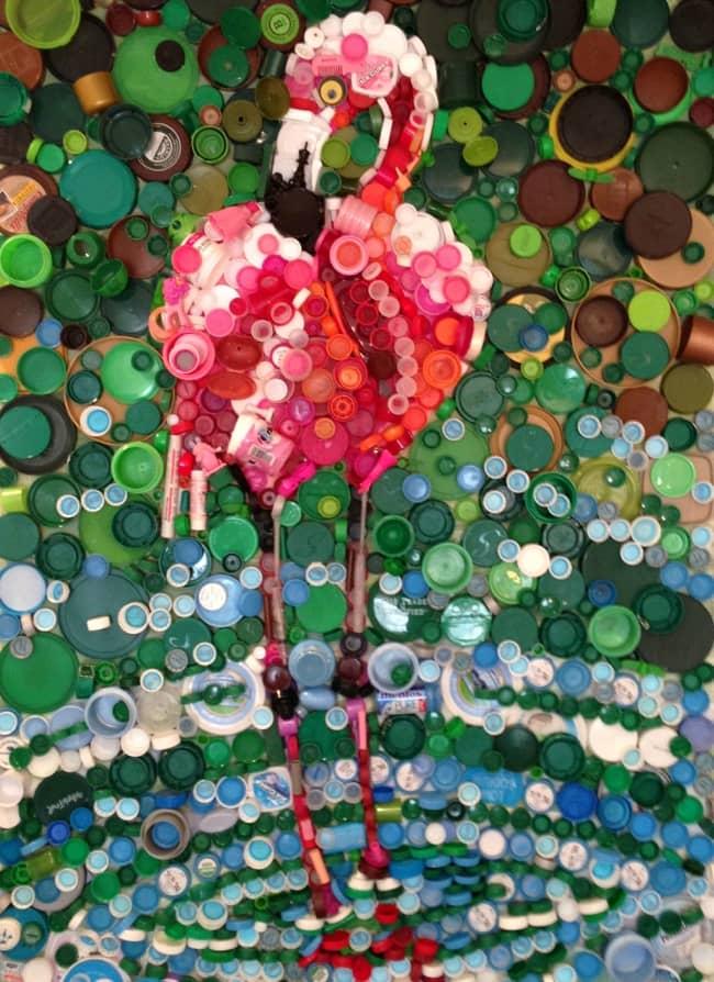 plastik kapak mozaik tablo