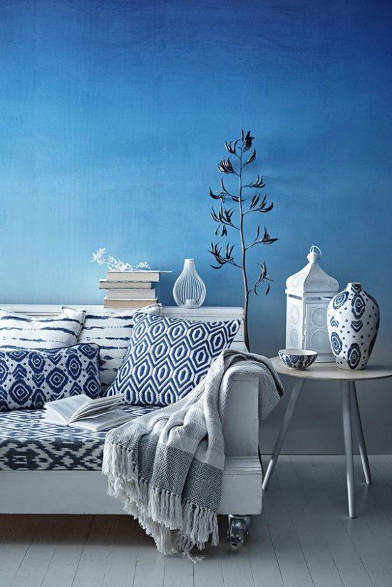 renklerin etkileri dekorasyon kullanım mavi