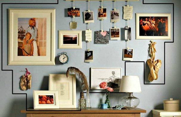 fotoğraf sergileme dekoratif askı