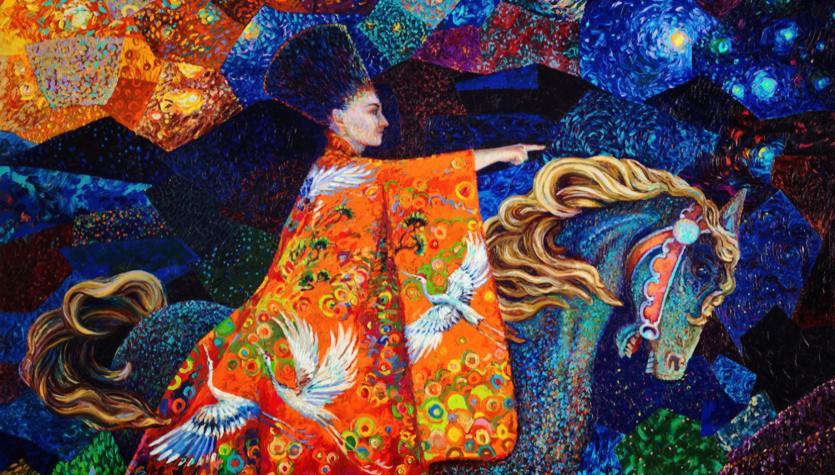 Parmakla Yağlı Boya Sanatı Iris Scott Tabloları Gizushka