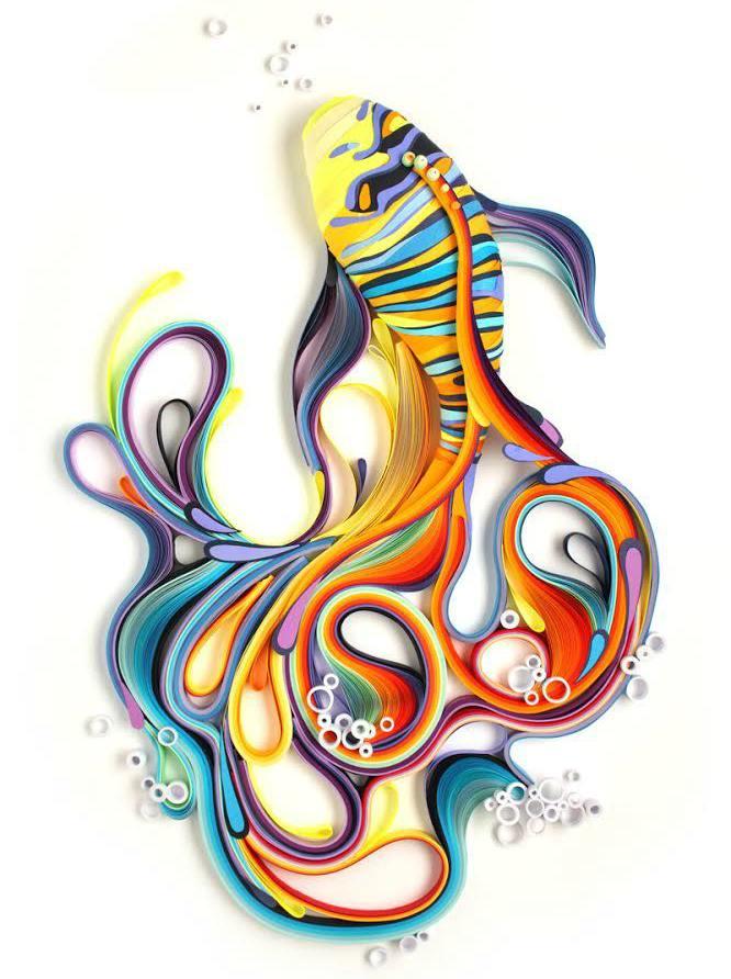 kağıt kıvırma sanatı Yulia Brodskaya