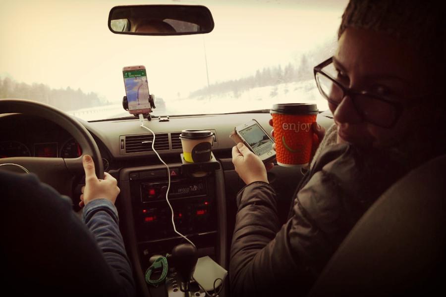 lapland araba yolculuğu