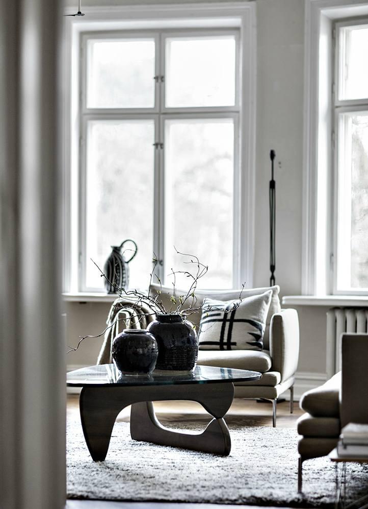 Ünlü aydınlatma ve mobilya tasarımları noguchi kahve sehpası