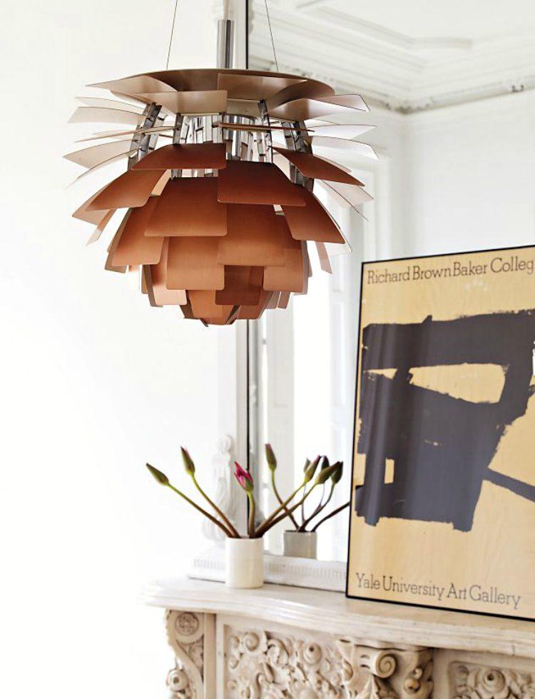 Ünlü aydınlatma ve mobilya tasarımları Poul Henningsen Artichoke Lamp