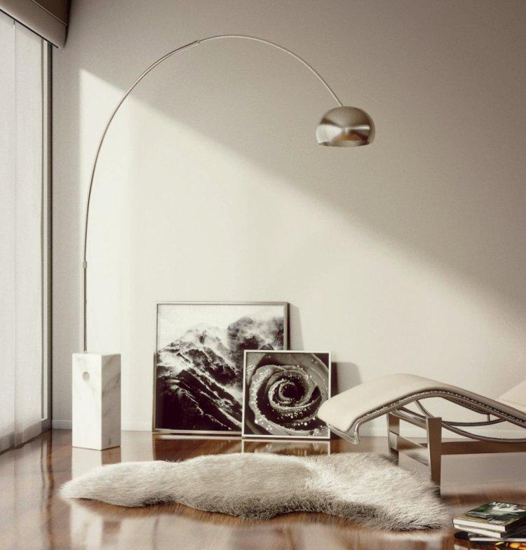 Ünlü aydınlatma ve mobilya tasarımları Achille Castiglioni Arco Lamp