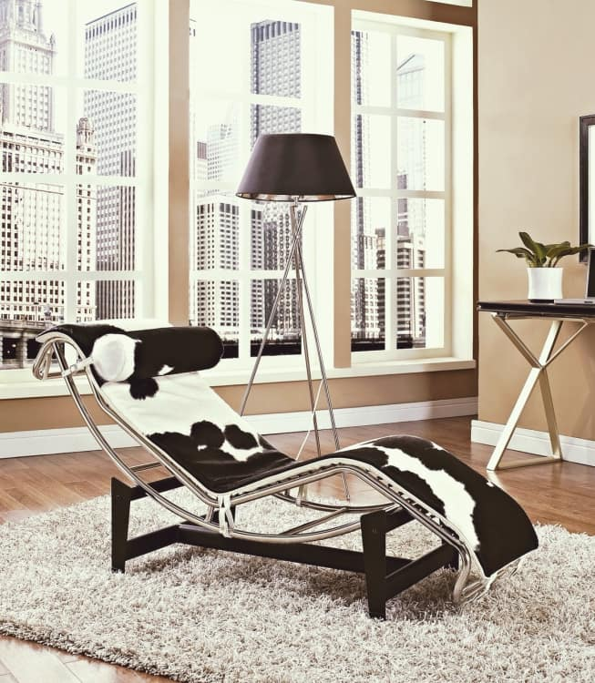 Ünlü aydınlatma ve mobilya tasarımları Le Corbusier LC4 Chaise Longue