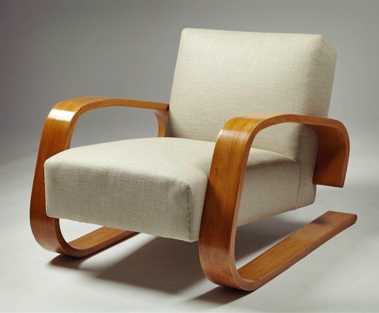 Ünlü aydınlatma ve mobilya tasarımları Alvar Aalto The Tank Chair 400