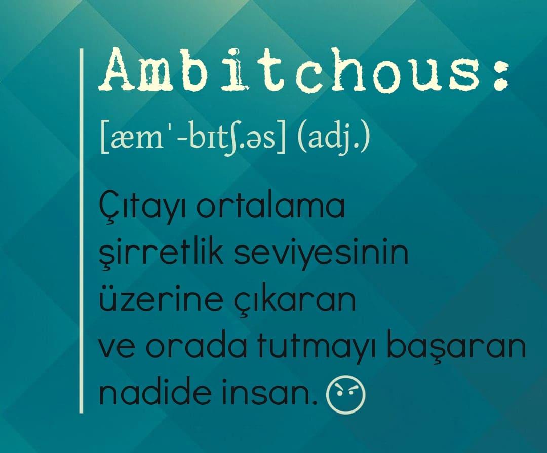 uydurma ingilizce kelimeler ambitchous
