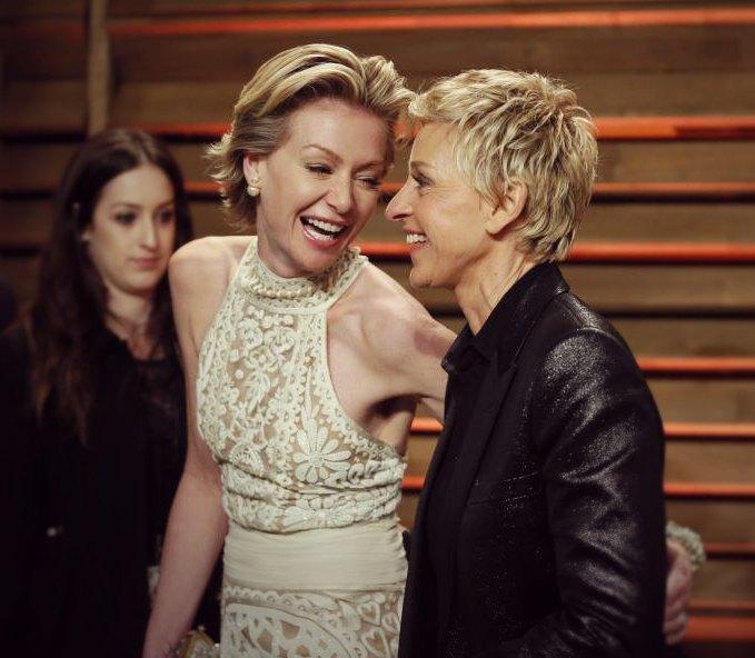 vejetaryen ya da vegan ünlüler Ellen DeGeneres & Portia de Rossi