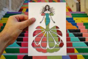 Shamekh Bluwi: Fotoğraflarla Kes Çıkar Moda İllüstrasyonları